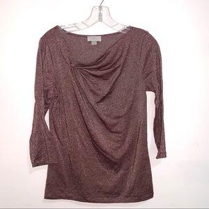 🌷5/$20 LOFT Women's Purple Sparkly Top